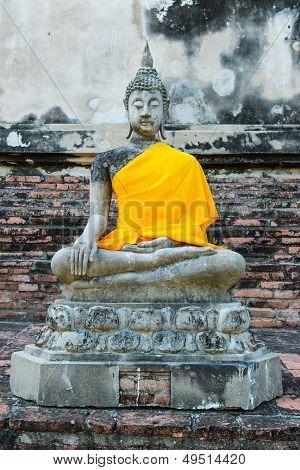 Ancient Buddha Partly Damage