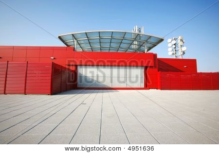 Red Building Perspective