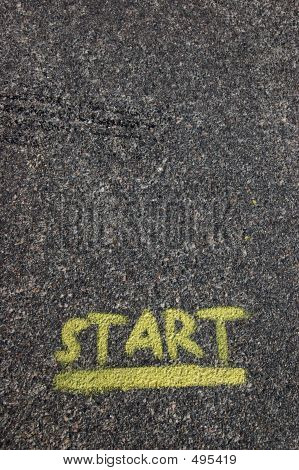 Start Painted At Pavement