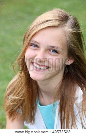 Beautiful Smiling Young Teenager