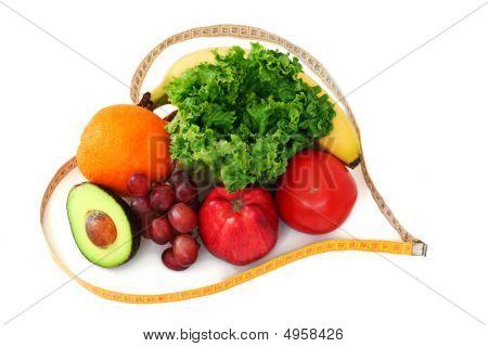 Obst und Gemüse im Herzen tape