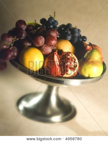 Fruit In A Silver Bowl