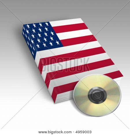 Book With The American Flag Printed