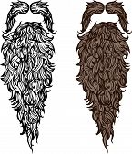 Vector illustration of fake beard and mustache poster