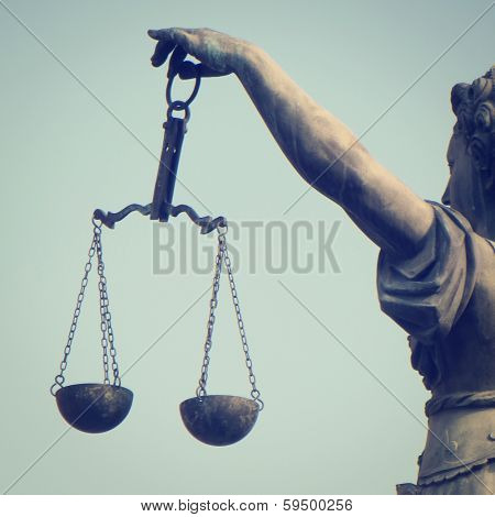 Scales of Justice with retro effect