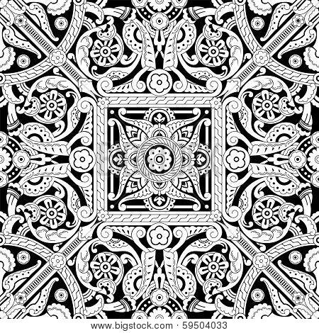 Vintage Islamic Motif Pattern