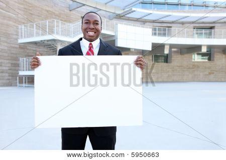 afrikakarte Business Man Holding sign