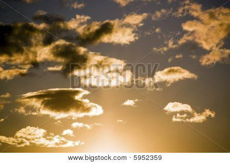 Sunset In Clouds
