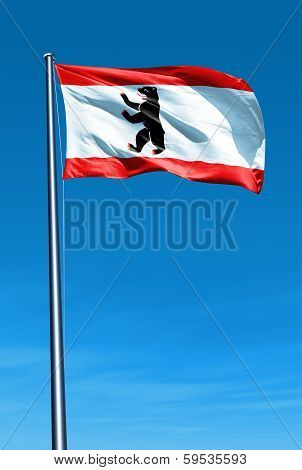Berlin flag waving on the wind