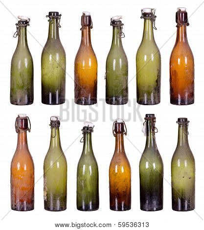 Concept Very Old Dusty Bottles