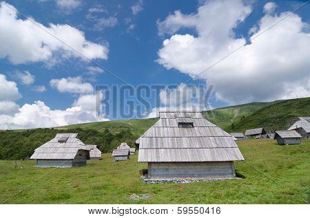 "wooden lodge in ""Biogradska Gora"" National Park, Montenegro  poster"