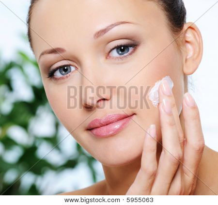 Woman Caring Of Her Face