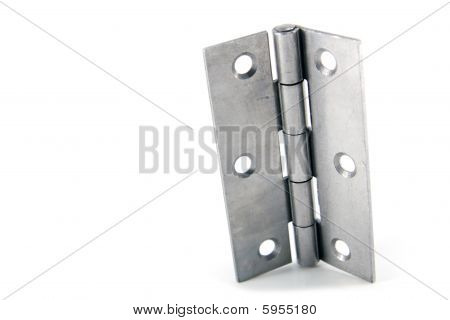 Stainless Steel Door Hinges Isolated On White