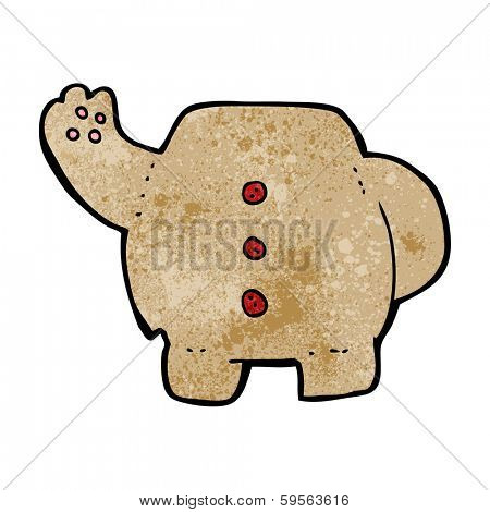 cartoon teddy bear body (mix and match cartoons or add own photos) poster
