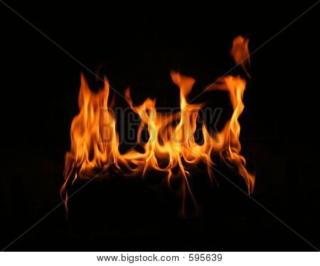 Fire Log Flame