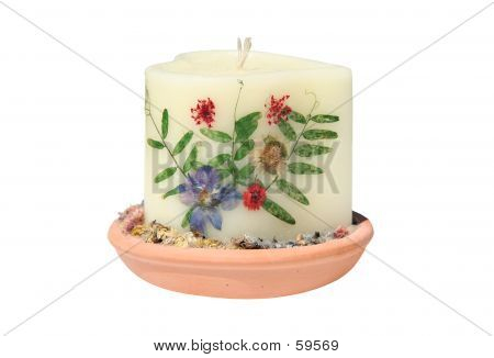 Candle In A Clay Pot