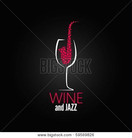 wine glass jazz design concept background