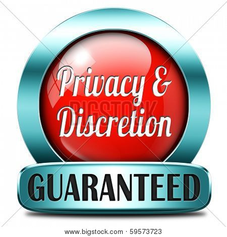 private and personal information red icon, banner for privacy protection and discretion of restricted info