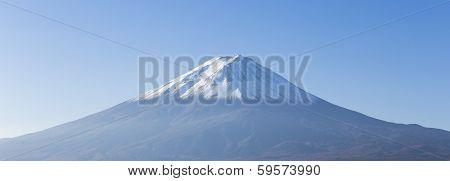 Panorama Of Mt. Fuji View From Kawaguchi-ko Lake. Yamanashi. Japan