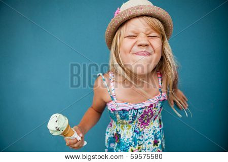 Young Girl Holding Ice Cream Cone