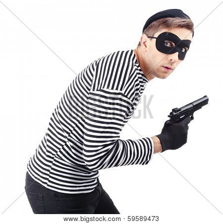 Thief isolated on white
