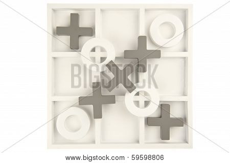 Game Board Decorate Stone Isolated