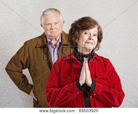 Innocent Lady With Grumpy Man