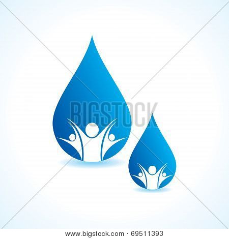 Save water concept stock vector