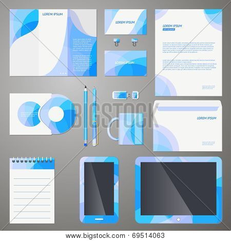 Stylish company brand design template