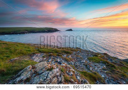 Sunset At Pentire