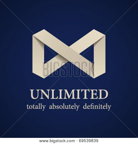 vector abstract paper unlimited symbol