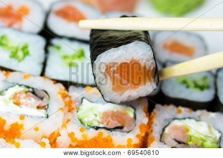 Closeup Of Maki Sushi