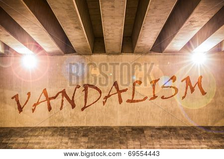 The Word Vandalism Painted As Graffiti