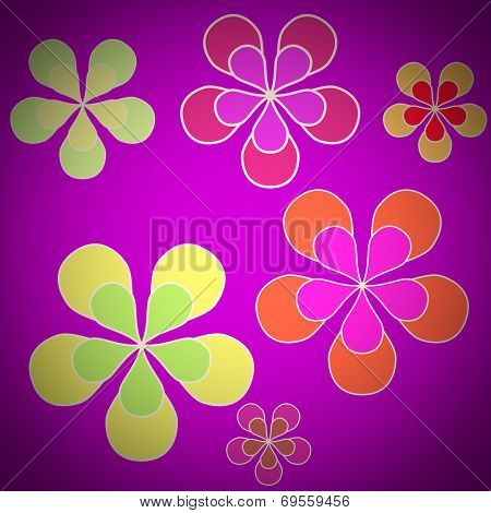 Retro Look Floral Sixties Background