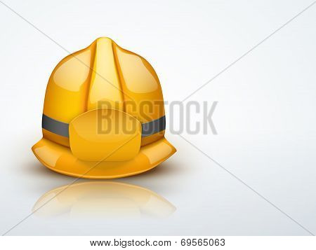 Light Background Gold fireman helmet vector illustration