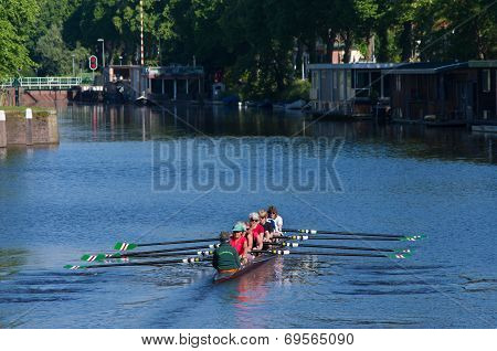 Rowers In Canal