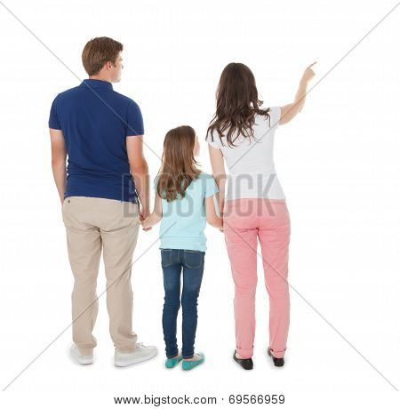Woman Showing Something To Family