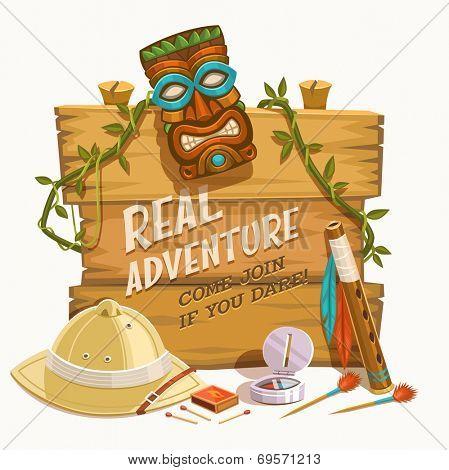 Real Adventure. Vector illustration.