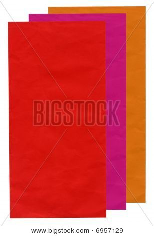 Few Colourful Mail Envelopes, Paper Recycling, Isolated On White, Texture