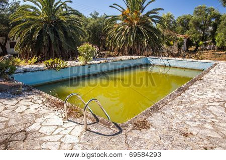 dirty swimming pool