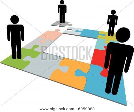 Network People Team Find Jigsaw Puzzle Solution