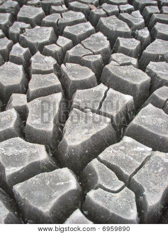 Closup of dry earth - rough terrain