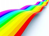 Rainbow waving path isolated on white background poster
