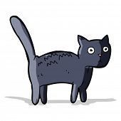 cartoon frightened cat poster