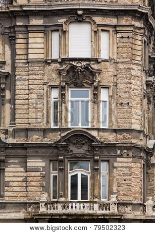 Old Damaged House In Budapest