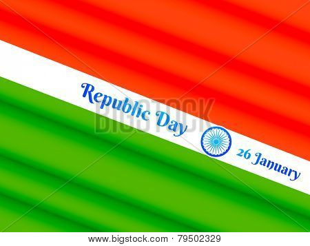 26 january indian republic day design vector poster