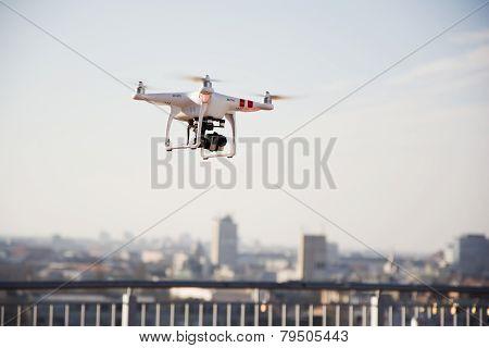 Drone Prepared For Flight