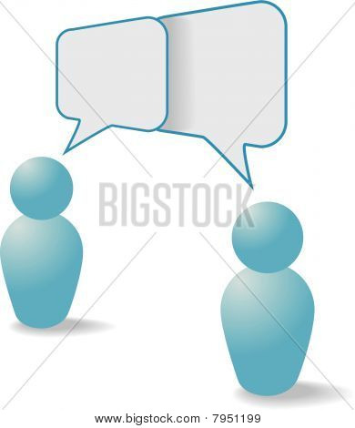 People Symbols Share Talk Communication Speech Bubbles