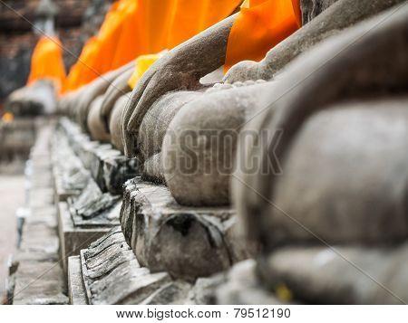 Buddha Statue In Wat Yai Chai Mongkol