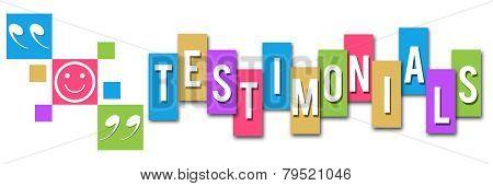 Testimonials Colorful Squares Elements